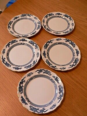 5 Booths Blue & White  Dragon  Side Plates. 7  • 7.99£