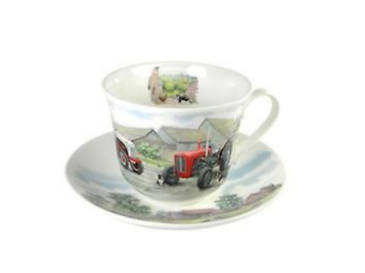 Roy Kirkham Breakfast Cup & Saucer Gift Set - Countryside Tractors • 16.95£