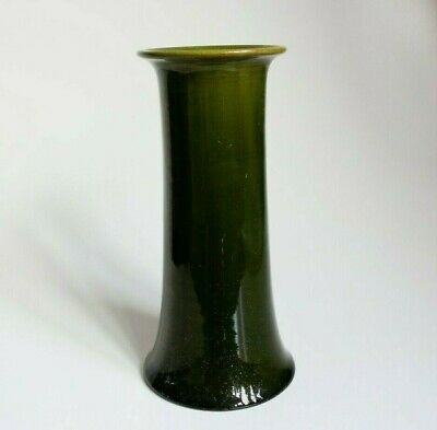 Bretby Pottery Large Collectable Vintage Arts & Crafts 9  Green Vase A/F • 30£
