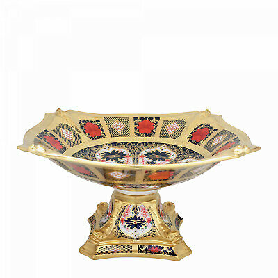 Royal Crown Derby Old Imari Solid Gold Band Dolphin Bowl 2nd Quality • 1,350£