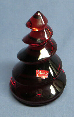 Rare Baccarat Crystal Red Christmas Diamond Noel Fir Diamant Tree EXC. • 128£