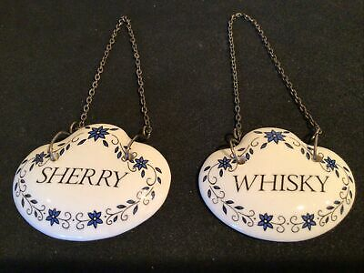Fenton English Bone China Decanter Labels  Whisky Sherry • 10£