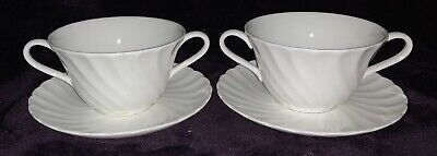 Wedgwood Candlelight Two Handled Soup Coupes / Bowls And Saucers / Stands • 30£