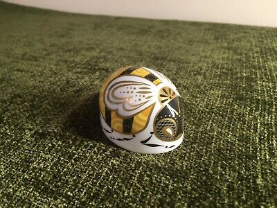 Royal Crown Derby BUMBLEBEE Paperweight. 2016 Guild Piece. Gold Stopper • 29£