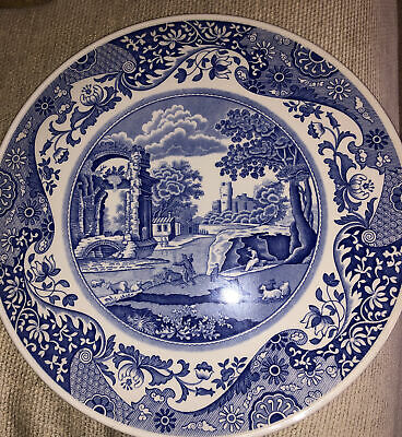 Spode Blue & White Cake Or Cheese Plate 🌈 • 11.99£