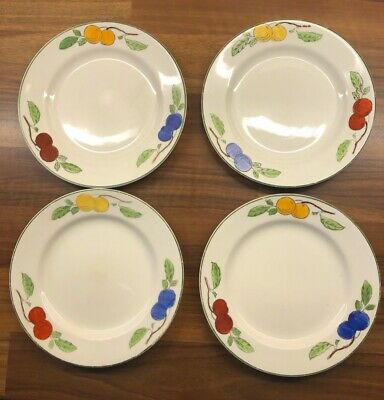 W H Grindley & Co Side Plates Fruit Pattern Circa 1930's • 15.99£