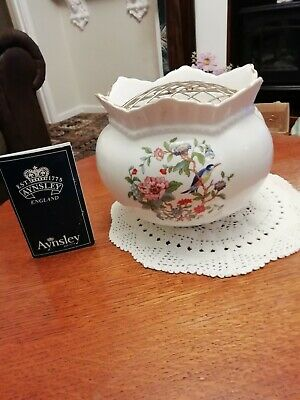 Aynsley Pembroke Rose Bowl And Mesh With Aynsley History Booklet • 9.99£