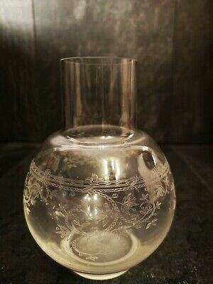 Laura Ashley Home Collection Clear Glass Water Carafe Vase Etched Floral • 12£