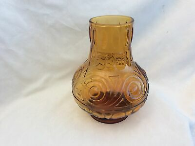 Amber Italian Made In Italy Vintage Mid Century Vase • 15£
