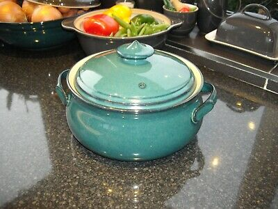 Denby Greenwich Casserole Dish With Lid • 20£