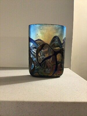 Isle Of Wight Blue Stunning Nightscape Small Vase Date Range 1989-1997 • 75£