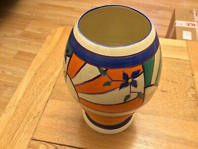 Fantasque By Clarice Cliff- SUNRAY LEAVES 362 VASE C.1929 • 280£