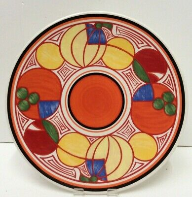 Clarice Cliff Wedgwood Plate 'Conical' Preowned Unboxed (890B3) • 50£