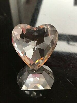 Crystal-look Clear Glass Heart Ornament • 9.50£