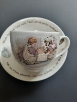 Wedgwood Mrs Tiggy Winkle Cup & Saucer Set Beatrix Potter Excellent Condition • 12.50£