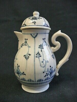 18th C Worcester Covered Cream Jug/Pot, A/f. • 9.95£