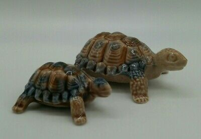 Pair Of Vintage Wade Porcelain Tortoise Whimsies Ornaments Made In England • 10£
