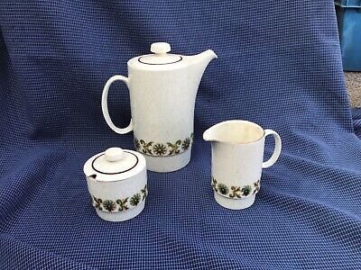 Poole Pottery Argosy Pattern  Coffee Pot Milk And Sugar Bowl • 15£