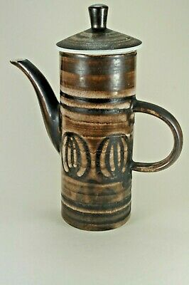 Cinque Ports Pottery The Monastery Rye Pottery Chocolate Brown Coffee Pot • 9.99£
