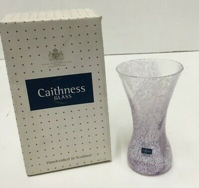 Caithness Pink Glass 4.5  Vase New Boxed (850D74) • 5£