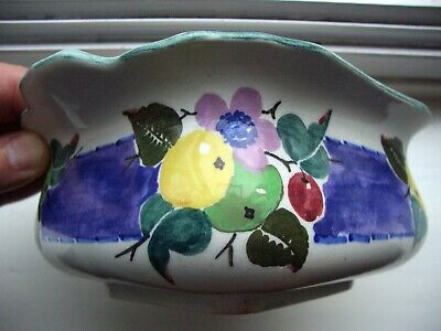 Scottish Pottery Mak'Merry Painted Fruit Dish Glasgow CatherineBlair No Lid RARE • 9.99£