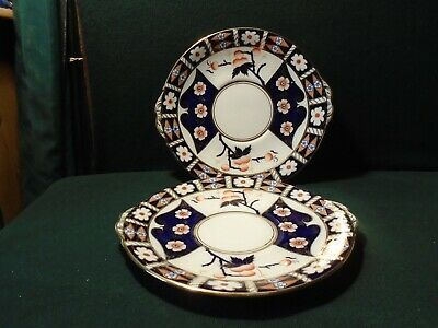 Two Gaudy Welsh Style Cake Plates • 10£