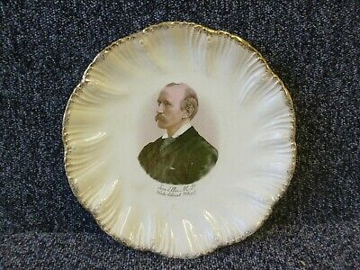John Ellis M.P. Late Liberal Whip Portrait Transfer Pottery Plate 9 And 3/8   • 15£