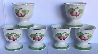 Villeroy & Boch French Garden Fleurence Set Of 6 Egg Cups (mint) • 31£