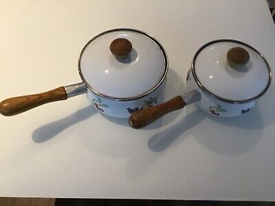 Vintage Marks And Spencer St Michael Ashberry Saucepans X2 • 15£