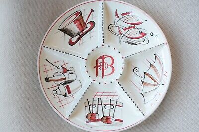 Poole Pottery Festival Of Britain Hors D'oeuvres Dish 1951 • 245£