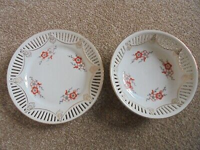 Pierced Fine China Plate And Bowl • 7.99£