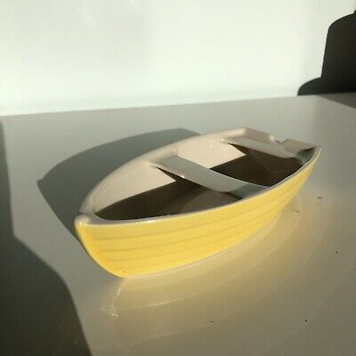 Hornsea Yellow Boat Ashtray Lovely Condition (Rarely Available Collectors Piece) • 25£