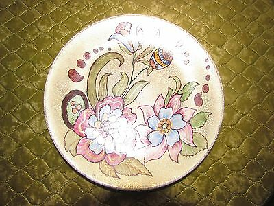 Decorative Floral  Hand Painted Wall Plate With Gilding • 5£