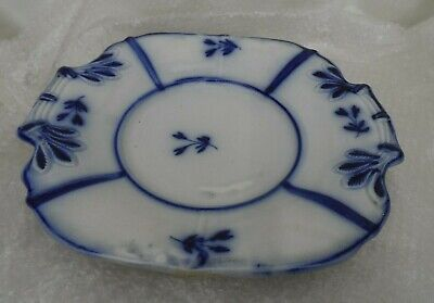 Antique Beautiful  Pair Of Flow Blue Blue & White  Footed Platters Decorative  • 29.99£