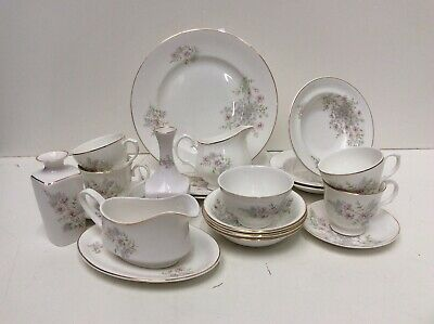 Mayfair Fine Bone China Table Ware X 21 Pieces Unboxed Preowned 862ZO • 12.50£