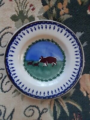 Nicholas Mosse Small Side Plate - 5  Dia - New - Never Used - Pig & Piglets -- • 10.50£