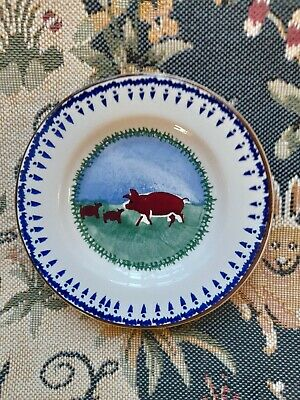 Nicholas Mosse Small Side Plate - 5  Dia - New - Never Used - Pig & Piglets --- • 1.04£