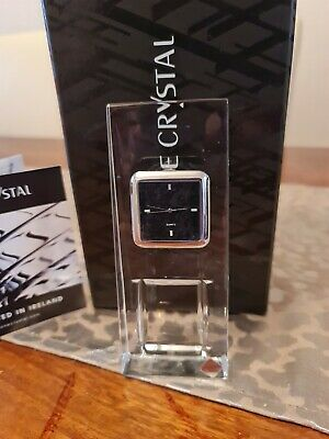 Tyrone Irish Lead Crystal Mantle Clock Cubis Boxed Slimline Excellent Condition  • 19.99£