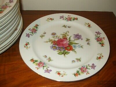 Occupied Japan China, Cherry, 6 Dinner Plates • 10£