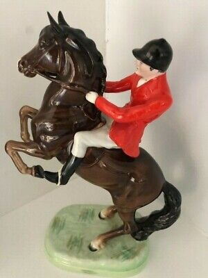 Early Beswick 868 Rearing Bay/Brown Horse And Rider • 180£