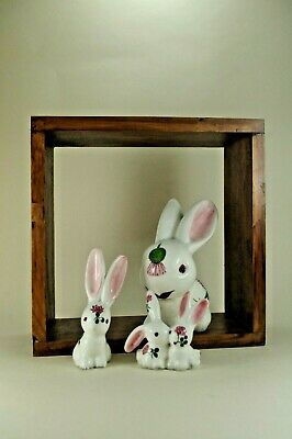 Cotton Tail Bunny's   Plichta London  Wemyss Pottery Traditional Clover Design • 30£