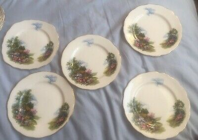 Royal Vale Country Cottage Side Plate X 5 • 25£