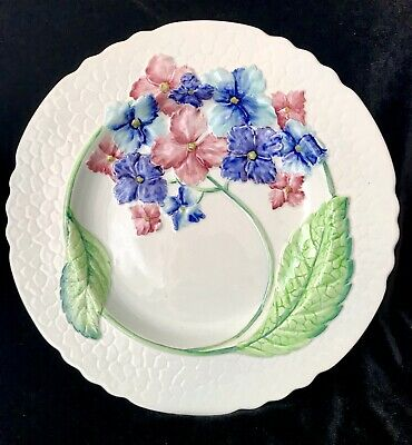 Vintage Carlton Ware Rare Hydrangea Pink And Blue Charger Plate. Excl Cond. • 9.99£