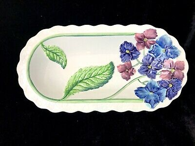 Vintage Carlton Ware Rare Hydrangea Pink & Blue Oval Platter Very Good Condition • 6.99£