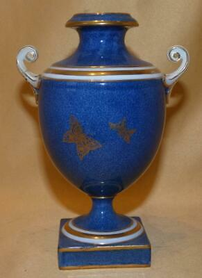 Wedgwood Powder Blue & Gold Butterflies Vase C1900 • 10£