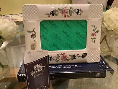 Vintage Aynsley Fine Bone China Pembroke Picture Photo Frame Boxed With Labels • 15£