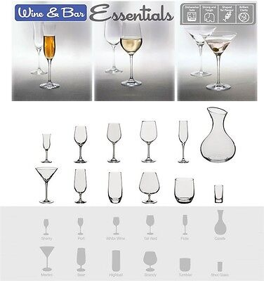 Dartington Crystal Bar Essentials WINE & BAR RANGE Drinking Glass Set Glassware • 15.99£