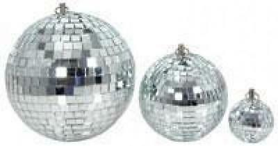 QTX 151.585 Glass 30cm Diameter Club Disco Mirror Ball Glittering Effect Display • 21.29£