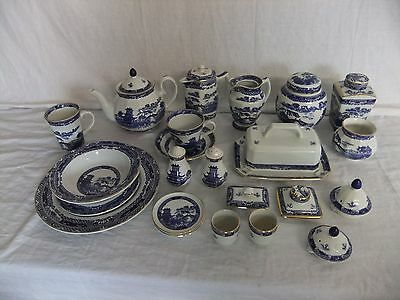 C4 Pottery Wade Ceramics For Ringtons Ltd. Willow (based On 1920s Design) - 4D3A • 8.99£