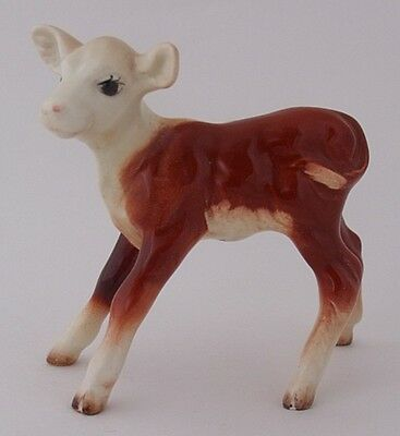 Vintage Early Beswick Hereford Calf Cattle Figure - Model Number 901B • 59£